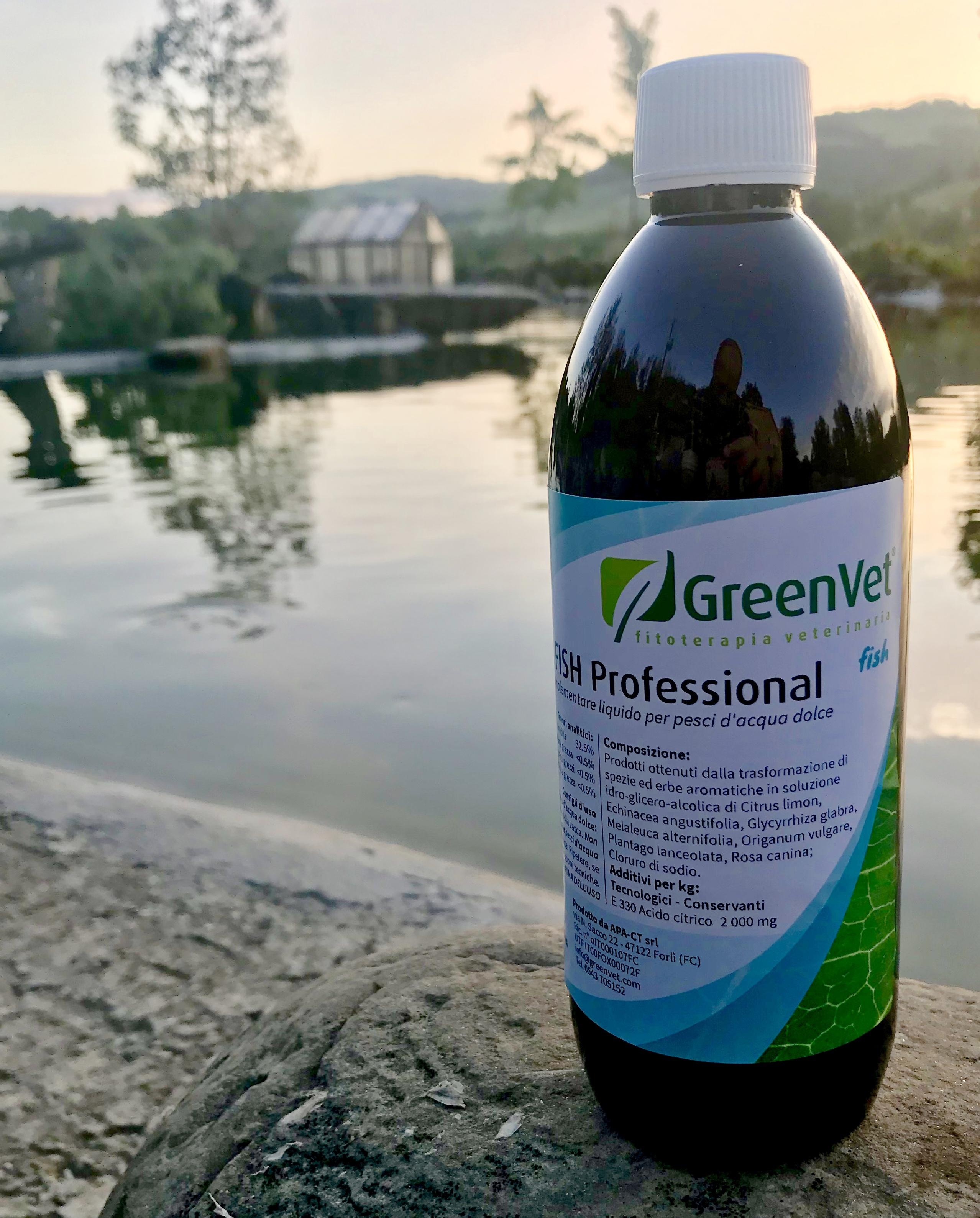 1/2 litro biocondizionatore GreenVet Gill Fish Professional
